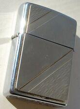 01 Zippo Lighter Heavy Front Silver Tone