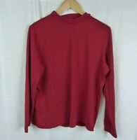 St. John's Bay Red Long Sleeve Turtleneck Shirt 100% Cotton Women's Size 1X