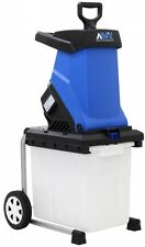 Electric Chipper Shredder Motor Garden Yard Leaf Leaves Bushes Branches Wheels