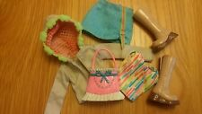 Barbie My Scene Bundle Clothes veste, jupe, top, Sac & Bottes Set 2