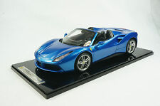 1/12 BBR FERRARI 488 SPIDER IN COLOR BLUE CORSA LIMITED 49 PIECES N MR
