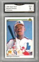 1990 UPPER DECK #9 MARQUIS GRISSOM RC   Graded MINT   Montreal Expos