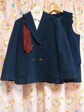 ^_^ Japanese SchoolGirl Blazer Set! Excellent ! Limited Design! Big size. 埼玉中