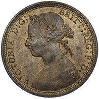 1889 HALFPENNY - VICTORIA BRITISH BRONZE COIN - SUPERB
