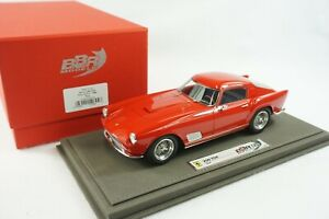 1/18 BBR FERRARI 250 TDF FARO DRITTO ROSSO CORSA GREY LEATHER BASE  LE 300 PC MR