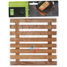 Bamboo Square Heat Resistant Trivet Pot Mat Coaster Holder Placemat