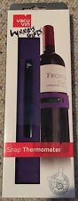 Vacu Vin Wine & Champagne Bottle Snap Thermometer Purple Kitchen Dining & Bar