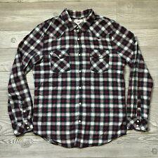 PacSun 44MM Long Sleeve Plaid Flannel Button-Up Shirt Men's Size Medium R26