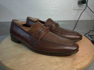 Mezlan Dempster 2 Men's Horse Bit Brown Leather Slip On Loafers Size 11 M Shoes