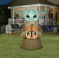 Mandalorian The Child Star Wars Baby Yoda 4.5 ft Airblown Inflatable Gemmy NEW