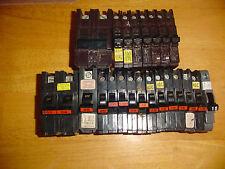Federal Pacific circuit breakers, lot of 22