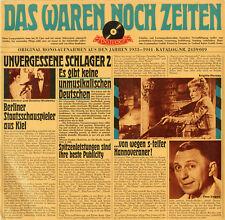 """""""DAS WAREN NOCH ZEITEN"""" UNVERGESSENE SCHLAGER 2 (LP 33 tours allemand) MINT"""