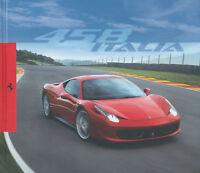 2009 FERRARI 458 ITALIA HARDCOVER PROSPEKT BROCHURE CATALOGUE DEPLIANT IT & GB