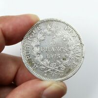 Pièce Argent France 5 francs Hercule 1873 A Atelier de Paris