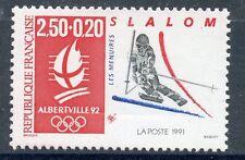 STAMP / TIMBRE FRANCE N° 2740 ** JEUX OLYMPIQUE ALBERVILLE 1992 SKI SLALOM