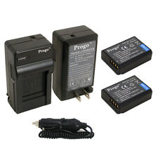 Progo 2 LP-E10 Batteries + Charger Combo For Canon LPE10 EOS Rebel T3 T5 Camera