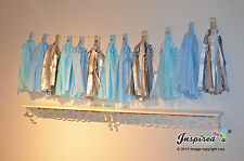 DIY Tissue Paper Tassel Garland Baby Shower Banner Bunting Birthday Party Frozen