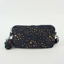 KIPLING EMILIA Pouch Wallet Crossbody Bag Golden Night Blue