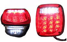 Jeep TJ CJ YJ JK Replacement Tail Lights w/ Bright Red LED's Illuminator on Left