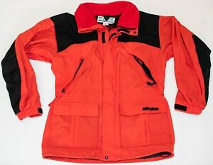 Vintage SKI DOO Snowmobile Snow Ski Weatherproof Layer Windbreaker Jacket LARGE