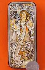 Russian LACQUER BOX MUCHA Maude Adams as Joan of Arc Hand Painted