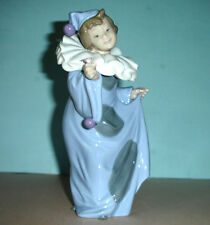 "Lladro Nao Pierrot Con Flor Girl Clown w/Flower #01094 8.25""H Hand-Painted Spain"