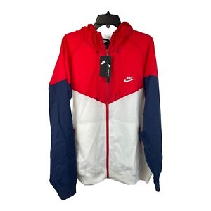 Nike Windbreaker Jacket USA Colors Sz XXL AR2191-104 Red White Blue A10
