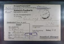 Camp Stalag IVF Hartmannsdorf 1942 POW Prisoner of War Kriegsgefangenenpost K16d