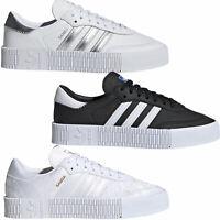 adidas Originals Sambarose Damen-Sneaker Turnschuhe Sportschuhe Plateauschuhe