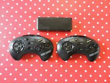 2 x Dual Turbo Wireless Controller Sega Mega Drive Acclaim + Adapter
