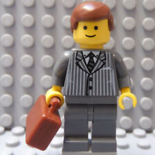 LEGO Lawyer CPA Businessman Manager Executive Banker Broker Gray Pinstripe Suit