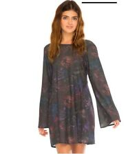 Motel Cross Long Sleeve Shift Dress - Midnight Bloom - New - Small Size
