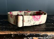 Greyhound House Collar: Vintage cream floral (or other breed).