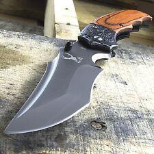 "7.5"" Wood Handle Spring Open Assisted Folding Pocket Knife Edc Tactical Blade"