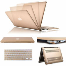 """GOLD Matte Rubberized PC Cover Case Shell & Keyboard Cover for Macbook Pro 13.3"""""""