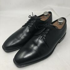 ECCO Mens Plain Toe Lace-up Black Leather Shoes Size EUR 44 US 10W