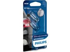 New W5W Philips Genuine  Bulbs 12V white Vision intense 12961NBVB2 4300K