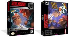 Street Fighter Alpha 2 Snes Caja de Juego de Repuesto + Cubierta obras de arte (sin Juego)