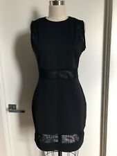 Topshop Size US 10 Mesh Panel Body Con Dress in Black
