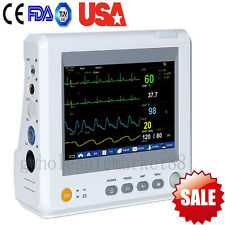 US Bedside Vital Signs Monitor Patient Monitor 6 Parameter EKG NIBP SPO2 Heart