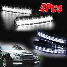 4PCS 8 LED DRL Fog Driving Daylight Daytime Running Light Car Auto Head Lamp