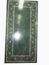 "48"" x 24"" green Marble Inlay Work Table Top Pietra Dura Coffee Table top"