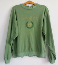 MCM Italy vintage Legere swiss cotton green sweater medium large RARE