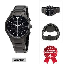 BRAND NEW GENUINE MENS EMPORIO ARMANI BLACK ION PLATED WATCH - AR2485 UK STOCK