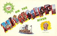 Mississippi~On The Mississippi River~1960 Postcard