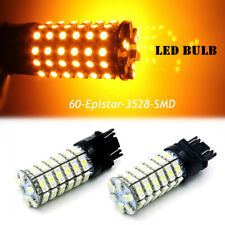 Dual Light Color White Amber Turn Signal LED Light Bulb Replacement Car SUV Bulb