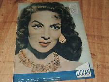 Ekran 12/1957 polish magazine MAria Felix, Gizela Ohlen, Clark Gable, I Bergman