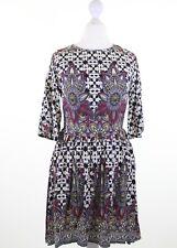 GLAMOROUS @ ASOS boho paisley print empire tea dress size 10 euro 38