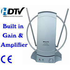 Digital Indoor Television TV Antennas & Dishes HDTV Aerial UHF/VHF/FM With Gain