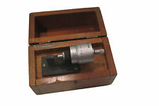 "Brown and sharpe 0-0.5"" bench micrometer in case. Direct reading  .000050"